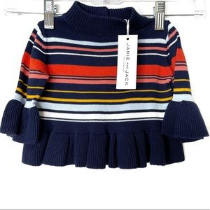 Janie and Jack Striped Sweater 6-12 Mon